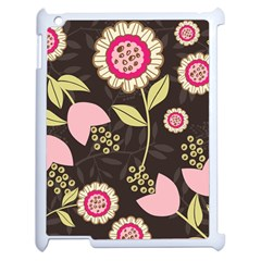 Flowers Wallpaper Floral Decoration Apple Ipad 2 Case (white)