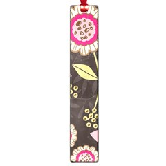 Flowers Wallpaper Floral Decoration Large Book Marks by Pakrebo