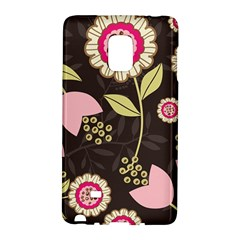 Flowers Wallpaper Floral Decoration Samsung Galaxy Note Edge Hardshell Case