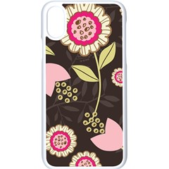 Flowers Wallpaper Floral Decoration Apple Iphone X Seamless Case (white)