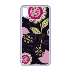 Flowers Wallpaper Floral Decoration Apple Iphone Xr Seamless Case (white)