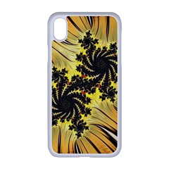 Fractal Art Colorful Pattern Apple Iphone Xr Seamless Case (white)