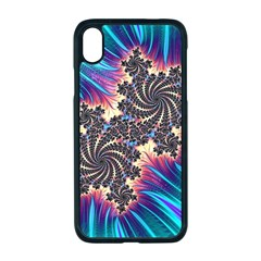 Fractal Mandelbrot Mathematical Apple Iphone Xr Seamless Case (black)
