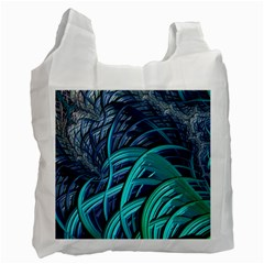 Oceanic Fractal Turquoise Blue Recycle Bag (one Side)