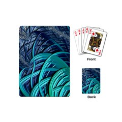 Oceanic Fractal Turquoise Blue Playing Cards (mini)