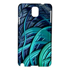 Oceanic Fractal Turquoise Blue Samsung Galaxy Note 3 N9005 Hardshell Case