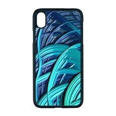 Oceanic Fractal Turquoise Blue Apple Iphone Xr Seamless Case (black)