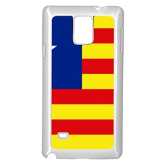 Flag Of Estado Aragonés Samsung Galaxy Note 4 Case (white) by abbeyz71