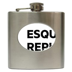 Logo Of Esquerra Republicana De Catalunya Hip Flask (6 Oz) by abbeyz71