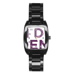 Logo Of Unidos Podemos Electoral Alliance (spain) Stainless Steel Barrel Watch by abbeyz71