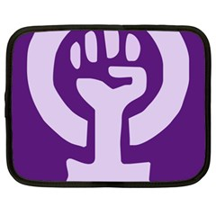 Logo Of Feminist Party Of Spain Netbook Case (xxl) by abbeyz71
