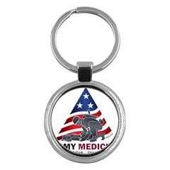 U S  Army Medicine Logo Key Chains (round)  by abbeyz71