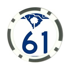 South Carolina Highway 61 Poker Chip Card Guard (10 Pack) by abbeyz71