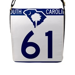 South Carolina Highway 61 Flap Closure Messenger Bag (l) by abbeyz71
