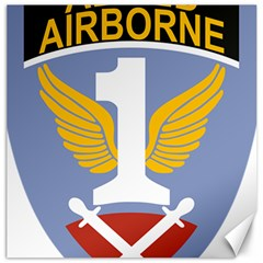Badge Of First Allied Airborne Army Canvas 12  X 12  by abbeyz71