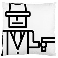Mafioso Large Flano Cushion Case (one Side) by Randy2013t