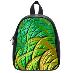 Patterns Green Yellow String School Bag (small)