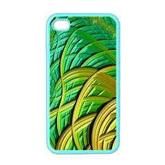 Patterns Green Yellow String Apple Iphone 4 Case (color)