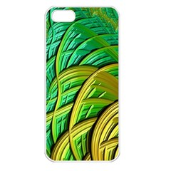 Patterns Green Yellow String Apple Iphone 5 Seamless Case (white)