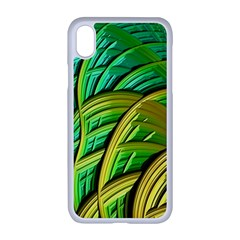 Patterns Green Yellow String Apple Iphone Xr Seamless Case (white)