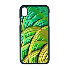 Patterns Green Yellow String Apple Iphone Xr Seamless Case (black)
