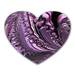 Purple Fractal Flowing Fantasy Heart Mousepads by Pakrebo