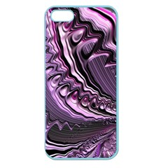 Purple Fractal Flowing Fantasy Apple Seamless Iphone 5 Case (color) by Pakrebo