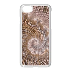 Fractal Art Pattern 3d Artwork Apple Iphone 7 Seamless Case (white)