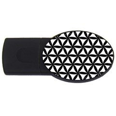 Pattern Floral Repeating Usb Flash Drive Oval (2 Gb)