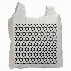 Pattern Star Repeating Black White Recycle Bag (two Side)