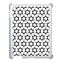 Pattern Star Repeating Black White Apple Ipad 3/4 Case (white)