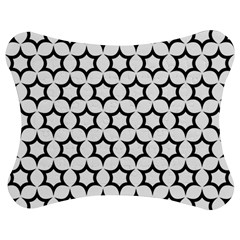 Pattern Star Repeating Black White Jigsaw Puzzle Photo Stand (bow)