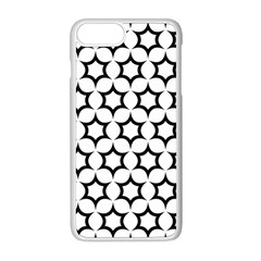 Pattern Star Repeating Black White Apple Iphone 8 Plus Seamless Case (white)