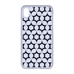Pattern Star Repeating Black White Apple Iphone Xr Seamless Case (white)