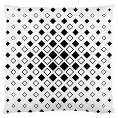 Square Diagonal Pattern Monochrome Large Flano Cushion Case (one Side)