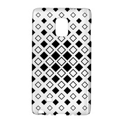 Square Diagonal Pattern Monochrome Samsung Galaxy Note Edge Hardshell Case