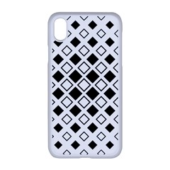 Square Diagonal Pattern Monochrome Apple Iphone Xr Seamless Case (white)