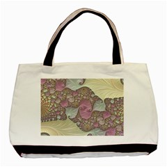 Pastels Cream Abstract Fractal Basic Tote Bag