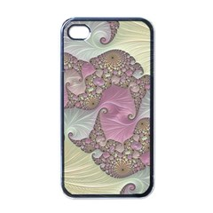 Pastels Cream Abstract Fractal Apple Iphone 4 Case (black)
