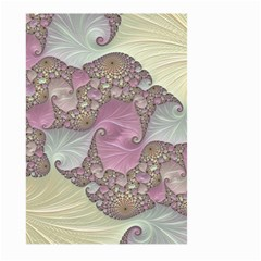 Pastels Cream Abstract Fractal Large Garden Flag (two Sides)