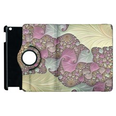 Pastels Cream Abstract Fractal Apple Ipad 3/4 Flip 360 Case by Pakrebo