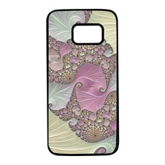 Pastels Cream Abstract Fractal Samsung Galaxy S7 Black Seamless Case by Pakrebo