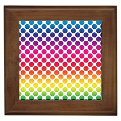 Polka Dots Spectrum Colours Dots Framed Tiles
