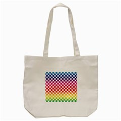 Polka Dots Spectrum Colours Dots Tote Bag (cream) by Pakrebo