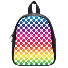 Polka Dots Spectrum Colours Dots School Bag (small) by Pakrebo