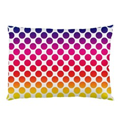 Polka Dots Spectrum Colours Dots Pillow Case (two Sides) by Pakrebo