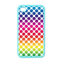 Polka Dots Spectrum Colours Dots Apple Iphone 4 Case (color) by Pakrebo