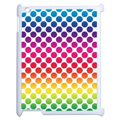 Polka Dots Spectrum Colours Dots Apple Ipad 2 Case (white) by Pakrebo