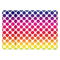 Polka Dots Spectrum Colours Dots Samsung Galaxy Tab 10 1  P7500 Flip Case