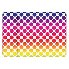 Polka Dots Spectrum Colours Dots Samsung Galaxy Tab 8 9  P7300 Flip Case by Pakrebo
